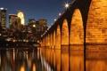 Картинка Миссисипи, город, река, мост, Миннеаполис