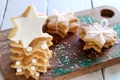 Картинка зима, звезды, еда, блестки, печенье, сладости, звёздочки