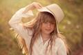 Картинка лето, природа, шляпа, девочка