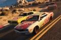 Картинка дорога, машины, гонка, Grand Theft Auto 5