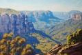 Картинка АРТ, ЛЕС, РИСУНОК, ARTSAUS, BLUE MOUNTAINS AUSTRALIA