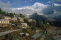 Картинка горы, дома, деревня, Непал, Ghangdrung village