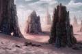 Картинка песок, скалы, пустыня, арт, путники