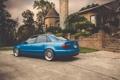 Картинка Audi, ауди, тюнинг, синяя, blue, stance