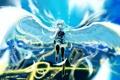 Картинка девушка, город, огни, крылья, аниме, арт, vocaloid