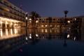 Картинка вода, огни, пальмы, Ночь, курорт, Тунис
