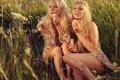 Картинка девушки, настроение, луг, мыльные пузыри, блондинки, забава, развлечение