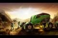 Картинка марс, трактор, Tractor for Mars