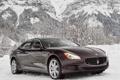Картинка машина, снег, горы, Maserati, Quattroporte