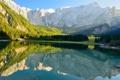 Картинка фото, Природа, Горы, Озеро, Лес, Италия, Пейзаж