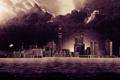 Картинка город, дождь, здания, дома, наводнение, небоскрёбы