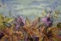 Картинка осень, листья, стиль, ягоды, стебли, рисунок