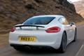 Картинка белый, Porsche, Cayman, автомобиль, вид сзади, speed