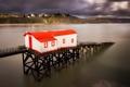 Картинка море, дома, бухта, Уэльс, Тенби