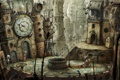 Картинка металл, город, странность