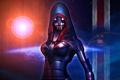 Картинка маска, арт, капюшон, броня, Mass Effect 3, Fury, second soldier