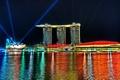 Картинка ночь, огни, сингапур
