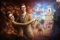 Картинка columbia, BioShock Infinite, brother, sister, Rosalind Lutece, Robert Lutece