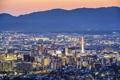 Картинка ночь, город, фото, дома, Япония, Kyoto, мегаполис