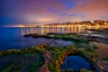 Картинка море, ночь, город, огни, побережье, Испания, Torrevieja