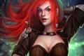 Картинка рыжая, League of Legends, Katarina, LOL, Sinister Blade