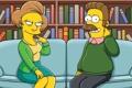 Картинка мультфильм, Нед Фландерс, Эдна Крабаппл, заигрывание, the simpsons, кадр, симпсоны