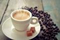 Картинка кофе, зерна, чашка, cup, beans, coffee, коричневый сахар
