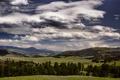 Картинка Монтана, долина, горизонт, небо, облака, холмы, Соединенные Штаты