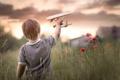 Картинка маки, мальчик, самолёт