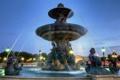 Картинка вода, свет, брызги, город, Франция, Париж, вечер