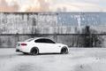 Картинка белый, небо, облака, стена, бмв, BMW, white