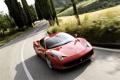 Картинка дорога, машина, пейзаж, разметка, обои, Феррари, Ferrari