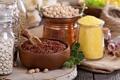 Картинка крупы, Variety of grains and beans, Различные зерновые и бобовые