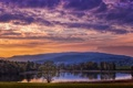 Картинка небо, озеро, Холмы