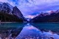 Картинка лес, облака, снег, горы, природа, озеро, отражение