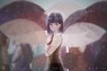 Картинка девушка, люди, дождь, аниме, арт, зонты, fate stay night