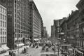 Картинка Чикаго, конка, люди, улица, 1907