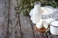 Картинка бутылка, молоко, колоски, кружка, творог, молочка, марля