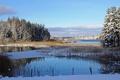 Картинка зима, пейзаж, озеро