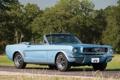 Картинка дорога, деревья, голубой, Mustang, Ford, Кабриолет, Форд