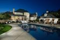 Картинка pool, night, luxury home