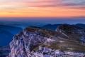 Картинка пейзаж, закат, скала, вид, высота, долина