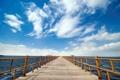 Картинка облака, вода, небо, пирс, море