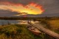 Картинка закат, вечер, Россия, Дунилово, Ивановская область