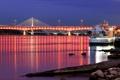 Картинка закат, город, варшава, мост, вечер, оги