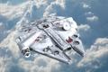 Картинка облака, star wars, космический корабль, millenium falcon
