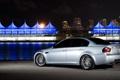 Картинка бмв, серебристый, BMW, задняя часть, E90, silvery