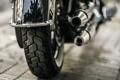 Картинка колесо, мотоцикл, глушитель