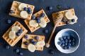 Картинка ягоды, blueberries, waffles