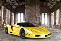 Картинка Авто, Желтый, Капот, Здание, Ferrari, Enzo, Суперкар